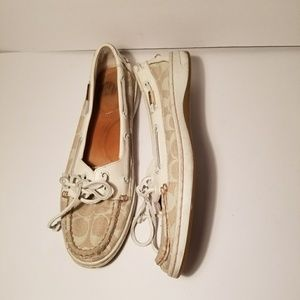 Coach slip on lace up boat shoes Richelle style 9